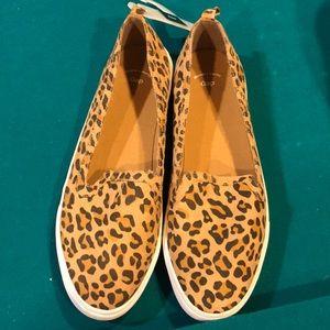 Gap Leopard slip on tennis shoes